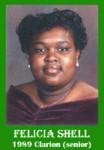 Felicia Shell 1989 ECHS Clarion sr