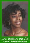 Latashia Davis 1989 ECHS Clarion sr